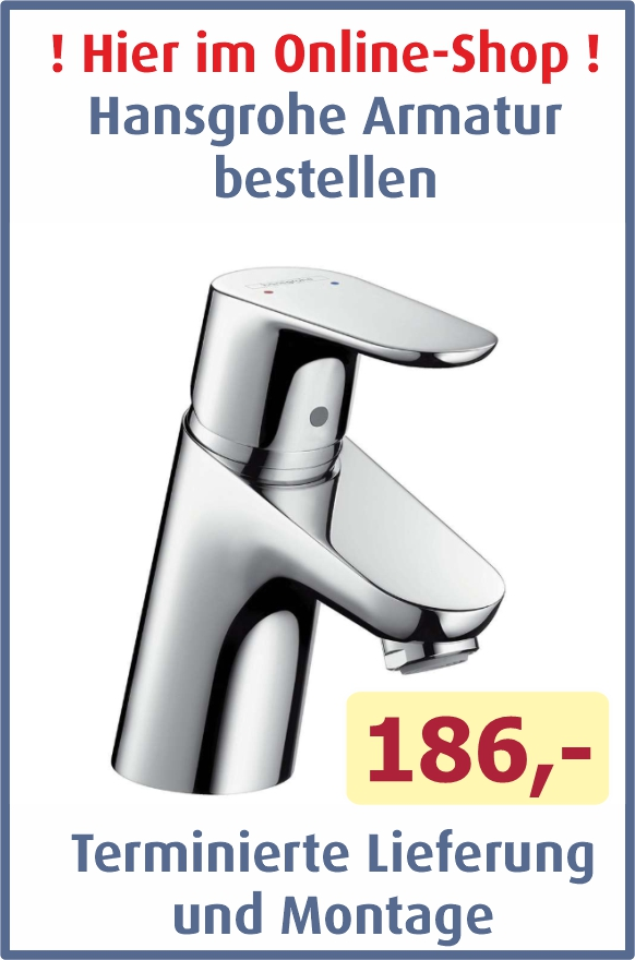 Hansgrohe Armatur Lieferung inkl. Montage 186,- €